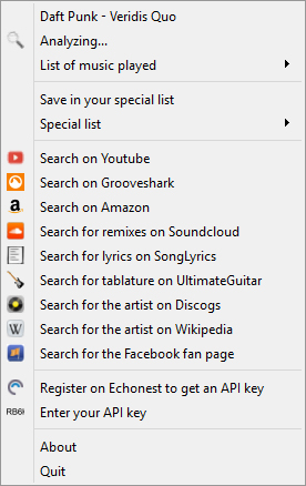 Using a powerful music recognition engine, this application can help you quickly identify the name of any song and the corresponding artist.
